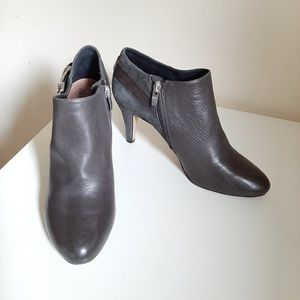 Vince Camuto Grey Suade/Leather Ankle Boots